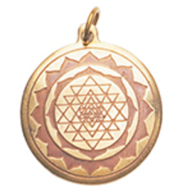 Shri Yantra Charm Pendant for Good Luck