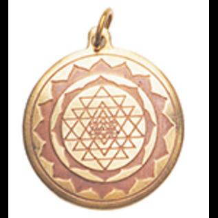 OMEN Shri Yantra Charm Pendant for Good Luck