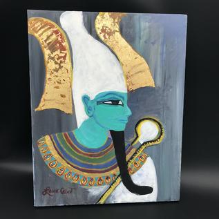 OMEN Laurie Cabot original painting of Osiris