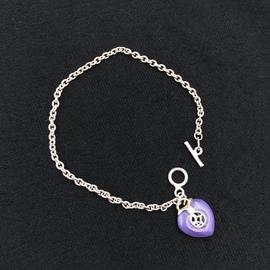 OMEN Good Luck Lavender Jade Heart Bracelet