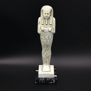 OMEN Ushabti Egyptian Tomb Figurine on Marble Base