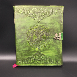 Large Celtic Tree Journal in Green