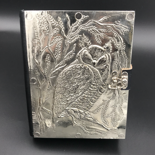 Small Owl Journal with Metal Cover
