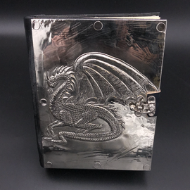 Small Dragon Journal with Metal Cover