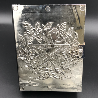 Shahid Kahn Leather Books Small Herbal Pentagram Journal with Metal Cover