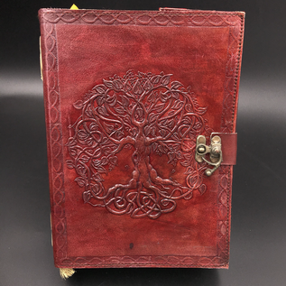 OMEN Small Detailed Celtic Knot Tree Journal in Brown