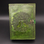 Small Detailed Celtic Knot Tree Journal in Green