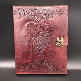 Large Owl Journal in Brown