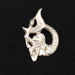 Mythical Mermaid Pendant in Sterling Silver