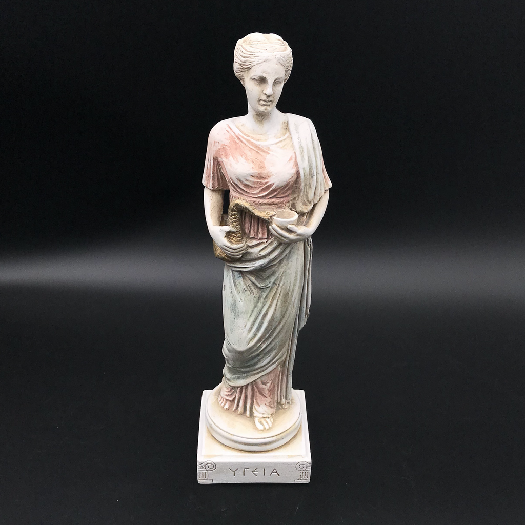 decorative statuette,Modern Statue bust Hygeia Statue,Greek Goddess of Health Healing and Weelbeing Roman Statue,Marble Hygeia bust