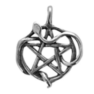 OMEN Wicca The Sacred Way Snake Pentacle