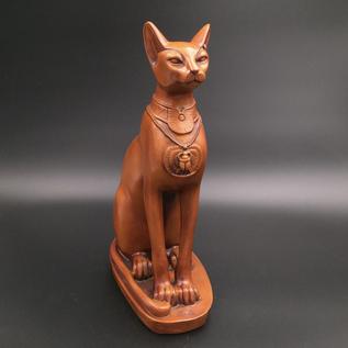 Extra Large Cat Bast Statue, Wood Finish
