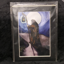 The Hermit - Signed and Matted Tarot Print