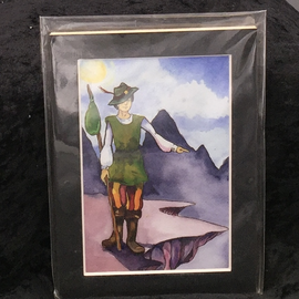 The Fool - Signed and Matted Tarot Print