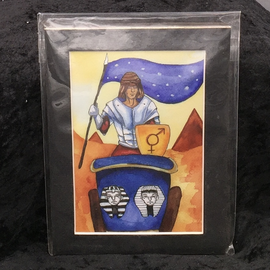 The Chariot - Signed and Matted Tarot Print