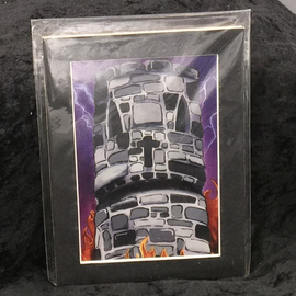 The Tower - Signed and Matted Tarot Print