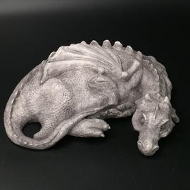 Sleeping Dragon Statue in Stone