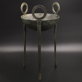 Tripod (censer) with Rings - 8.2 Inches Tall in Bronze - Made in Greece