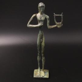 Apollo Statue - 11 inches Tall in Bronze - Made in Greece