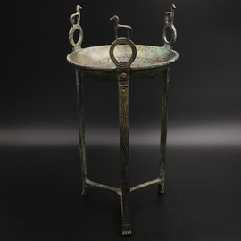 Tripod (censer) with Horses - 16 Inches Tall in Bronze - Made in Greece