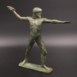 Zeus Statue - 8 inches Tall in Bronze - Made in Greece