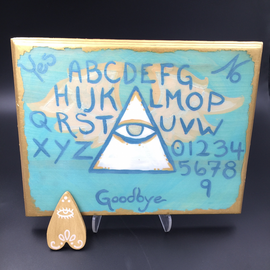 Hand Painted Winged Eye of Providence Spirit Board