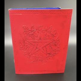 Small Herbal Pentagram Journal in Red
