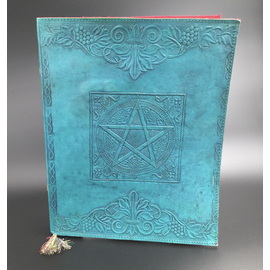 Large Pentacle in Square Journal in Blue