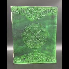 Large Aegishjalmur Runic Journal in Green