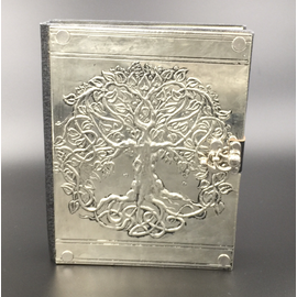 Small Detailed Celtic Knot Tree Journal with Metal Cover