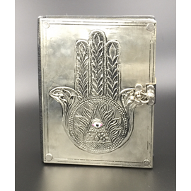 Small Hamsa Journal with Metal Cover