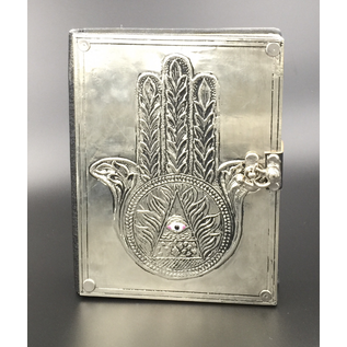 OMEN Small Hamsa Journal with Metal Cover
