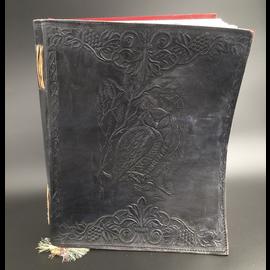 Large Owl Journal in Black