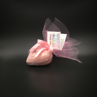 Pure Magic Love Potion Crystal Ball Bath Bomb with a Rose Quartz Crystal Inside!