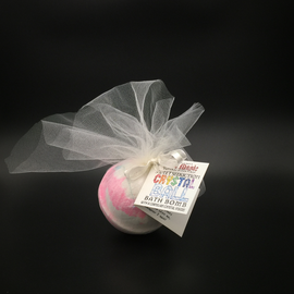 Pure Magic Sweet Seduction Crystal Ball Bath Bomb with a Carnelian Crystal Inside!