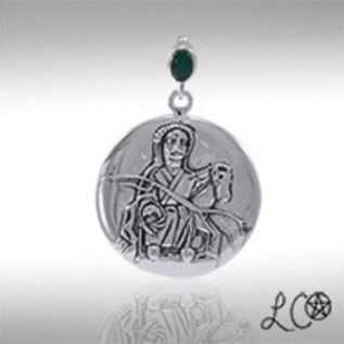 Laurie Cabot's Epona with Green Agate Pendant
