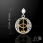 OMEN Laurie Cabot's Healing Pendant with White Quartz