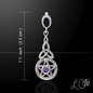 OMEN Laurie Cabot's Celtic Protection Pentacle with Amethyst Pendant