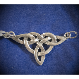 Large Triquetra Centerpiece Pendant in Sterling Silver