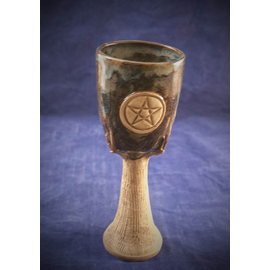 Spirit of Wood Goblet in Blue with Pentacle