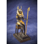 OMEN Small Sitting Anubis Statue, Black and Gold Finish