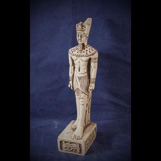 OMEN Medium Standing Amun-Ra Statue, White Finish