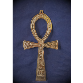 6.5 Inch Brass Ankh - Made in Egypt