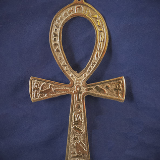 OMEN 6.5 Inch Brass Ankh - Made in Egypt