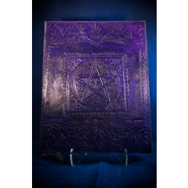 Large Pentacle in Square Journal in Purple