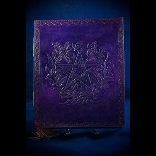 Small Herbal Pentagram Journal in Purple