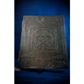 Large Pentacle in Square Journal in Black