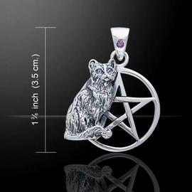 Cat Pentagram with Amethyst