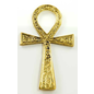OMEN Small Brass Ankh 2 1/2 inches x 4 1/2 inches