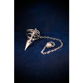 Silver Spiral Metal Pendulum